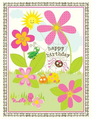 children cute Garden Critters Birthday Card