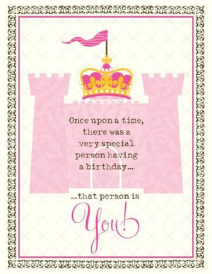 Princess Castle Birthday Card