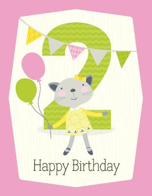 kids 2nd ballon Birthday Card