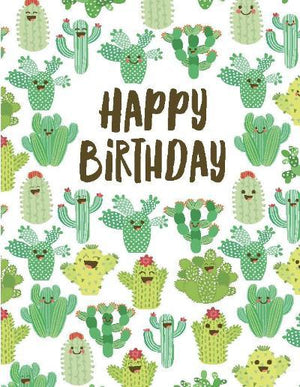kids multiple cactus birthday greeting card