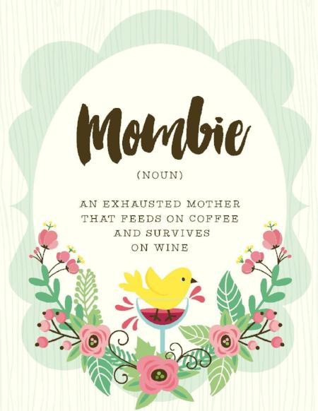 NEW-Mombie Exhausted Mother Card