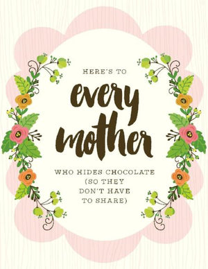 NEW-Mother Hides Chocolate Card