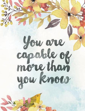 Capable of More Than You Know Greeting Card