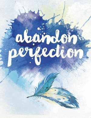 Water Colour with Feather Abandon Perfection Greeting Card