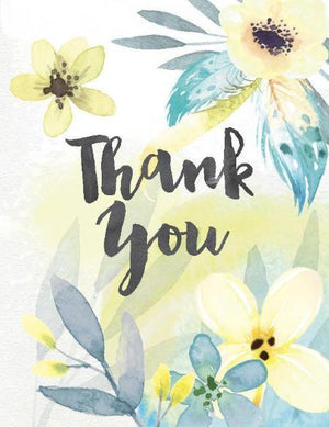 Yellow Flowers Thank You Greeting Card