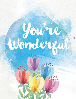Bright Coloured Tulips You're Wonderful Greeting Card