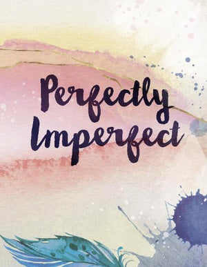 watercolour feather Perfectly Imperfect encouragement greeting card