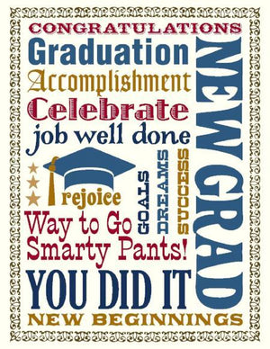 VS9028-Multi Text Graduation Card