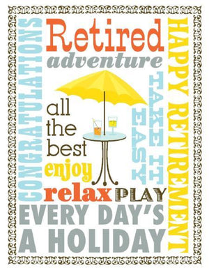 Multi Saying Retirement greeting Card