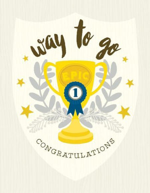 Way To Go Trophy Congratulations greeting Card