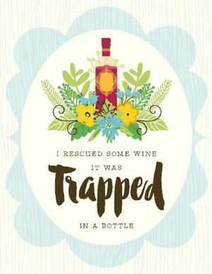 NEW-Recsued Trapped Wine Card