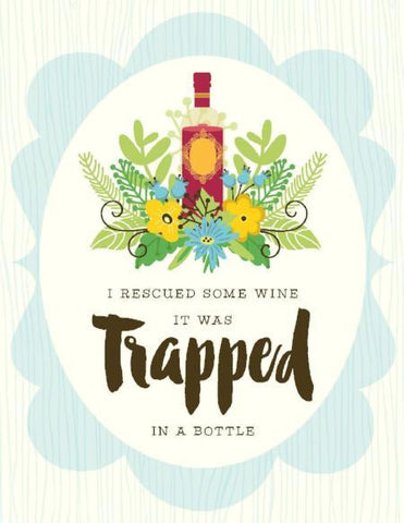 VS9058-Rescued Trapped Wine Card