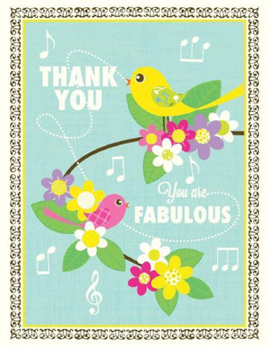 Tweety Birds You Are Fabulous Thank You Greeting Card