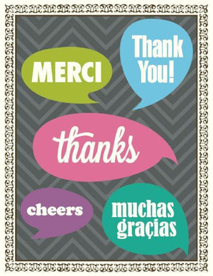 Multi Saying Thank You Greeting Card