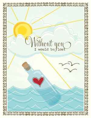 Lost Without You valentine love greeting Card