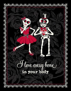 Candy skeleton Love valentine greeting Card