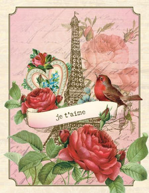 Vintage Eiffel Tower Love valentine greeting Card
