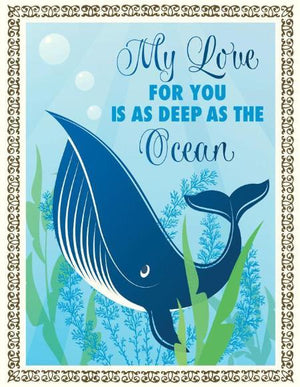 Deep as the Ocean Love valentine greeting Card