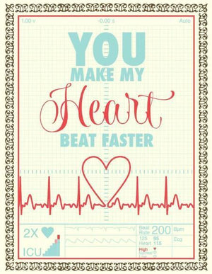 Heart Beat Faster Love valentine greeting Card