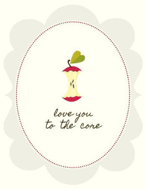 Love you To The Core Love valentine greeting Card