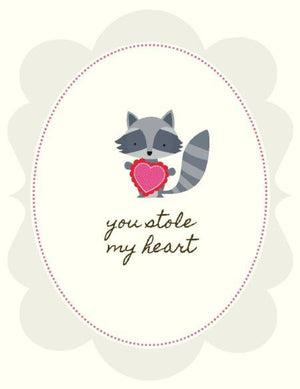 Stole My Heart Love valentine greeting Card