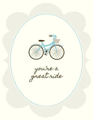 You're a Great Ride Love valentine greeting Card