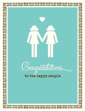 Stick figure brides love Wedding Card