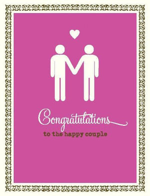 Stick figure grooms wedding love card