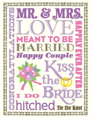Multi Text Love Wedding greeting Card