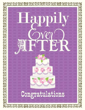 Happily Ever After Wedding cake greeting Card