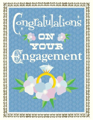 Bling Ring Engagement Wedding Card