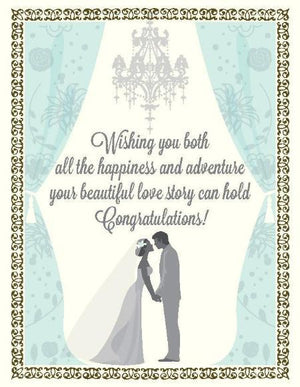 Beautiful Love story Wedding greeting Card