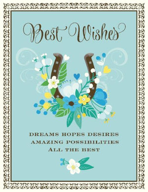 Lucky Horseshoe best wishes wedding card