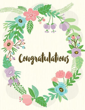 floral poise wreath congratulations greeting Card