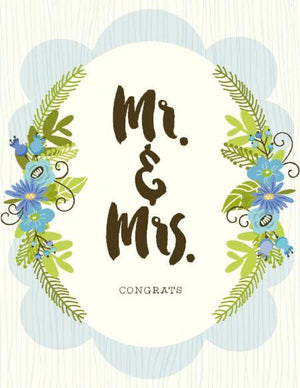NEW-Mr & Mrs Congrats Card