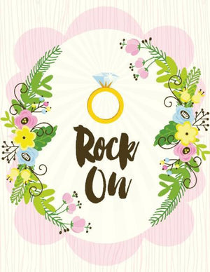Rock On Bridal posie wedding greeting card