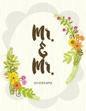 Mr & Mr posie bouquet Congrats wedding Card