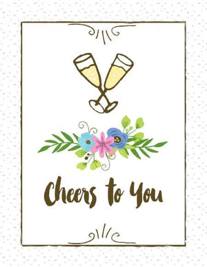 Cheers to you wedding love greeting card