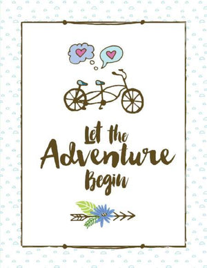 Let the adventure begin love wedding greeting card