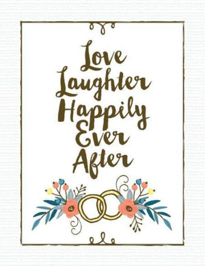 Two Rings Happily Ever After Wedding greeting card