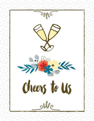 Cheers to us love anniversary greeting card
