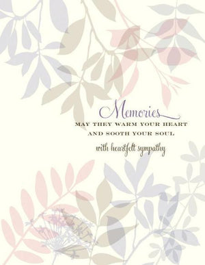 May Memories Warm Your Heart Sympathy Greeting Card