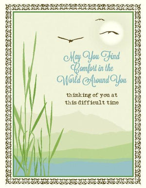Lake Reeds Difficult Time Sympathy Greeting Card