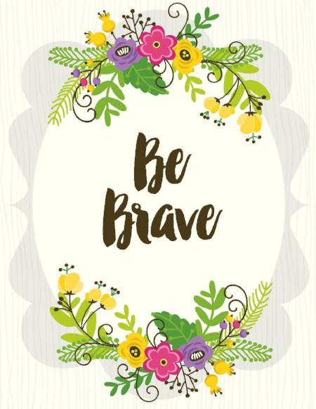 NEW-Be Brave Card