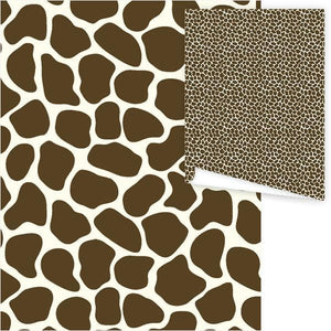 WP3006-Brown Giraffe Gift Wrap