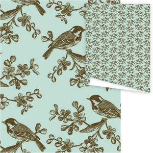 WP3015-Bird on Branch Gift Wrap