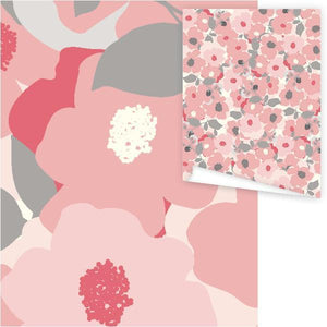 WP3024-Pastel Poppies Gift Wrap