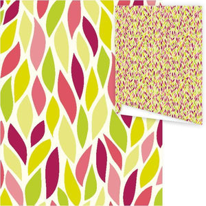 WP3026-Bright Leaves Gift Wrap