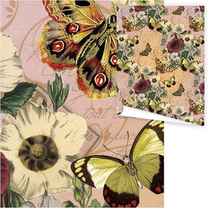 WP3031-Butterflies Aviary Gift Wrap