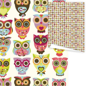 WP3035-Woodland Owl Gift Wrap